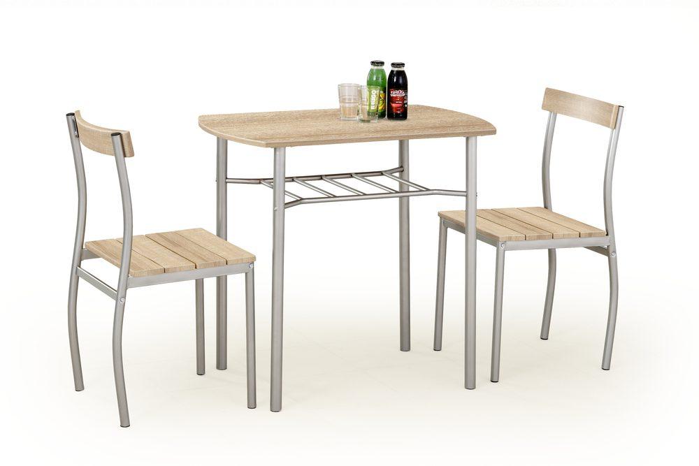 Halmar LANCE table + 2 chairs color: sonoma oak