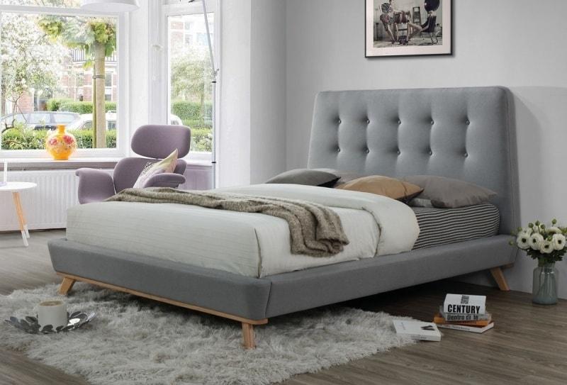 Levně Čalouněná postel DONA 160x200 šedá