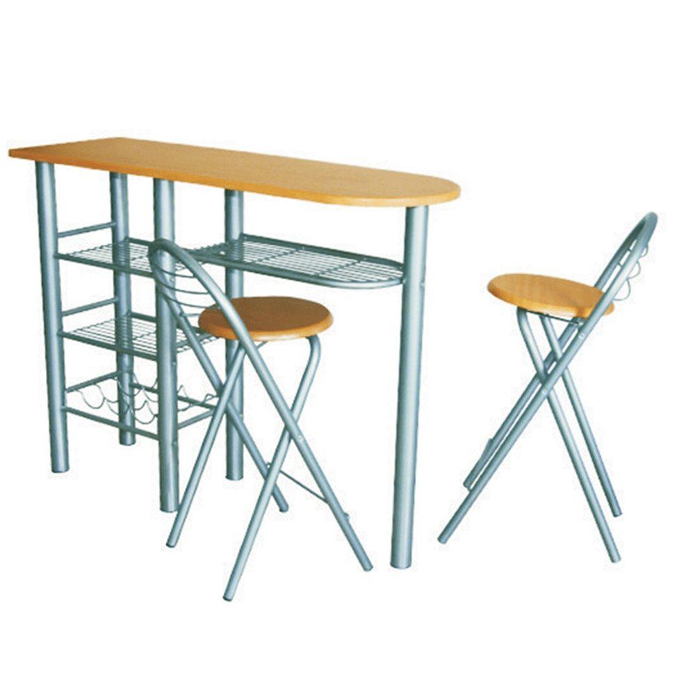 Tempo Kondela Komplet barový stůl + 2 židle, buk, BOXER