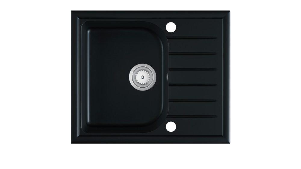 Halmar ALAROS sink, color: black matt