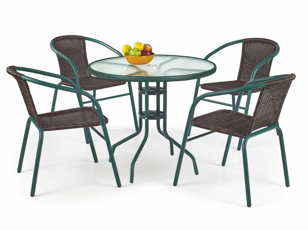 Halmar GRAND 80 table color: dark green
