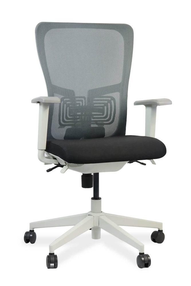 ADK TRADE Šedá kancelářská židle ADK Elate, síťovina/tkanina