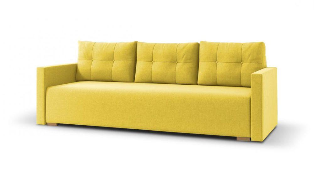 SOB FURNITURE Béžová pohovka ROCO Žlutá