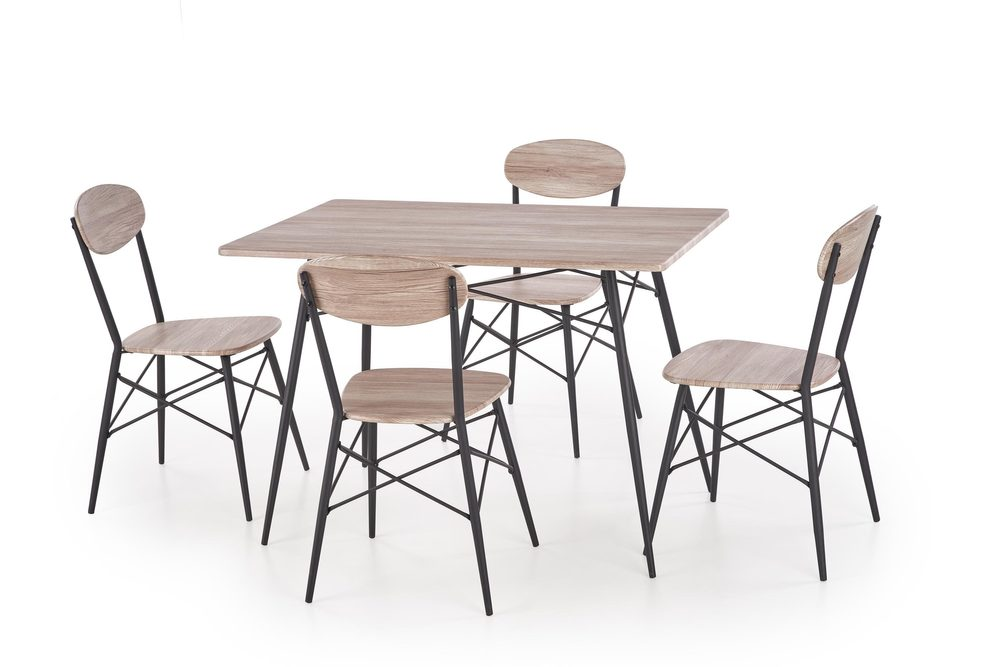 Halmar KABIR rectangular, table + 4 chairs