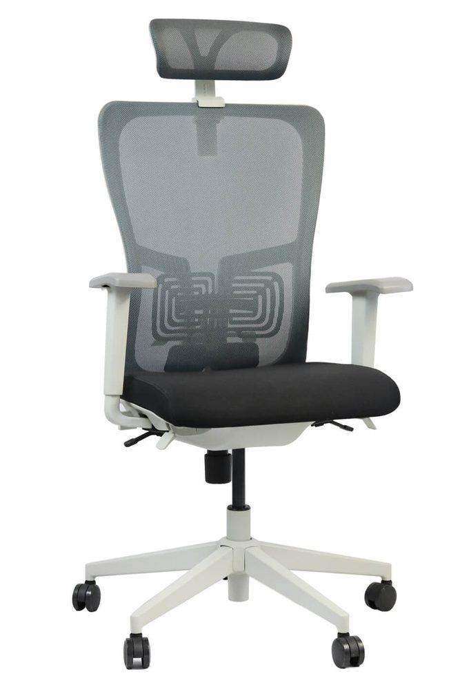 ADK TRADE Šedá kancelářská židle ADK Elate Plus, síťovina/tkanina