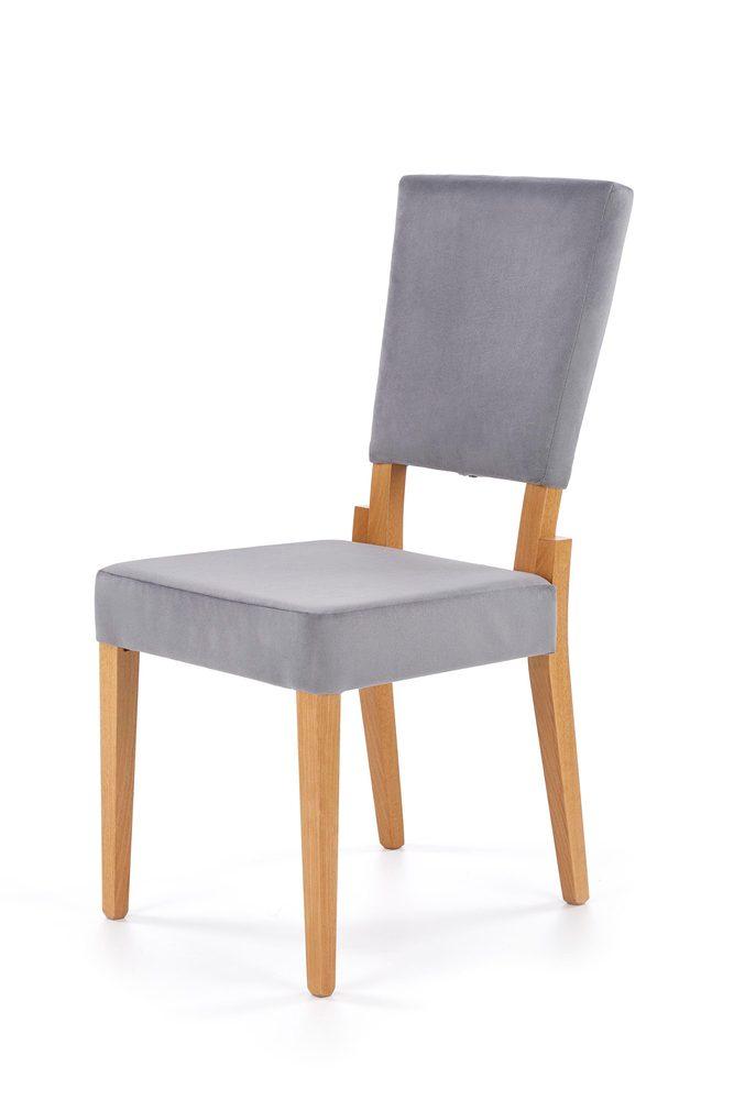 Halmar SORBUS chair, color: honey oak / grey