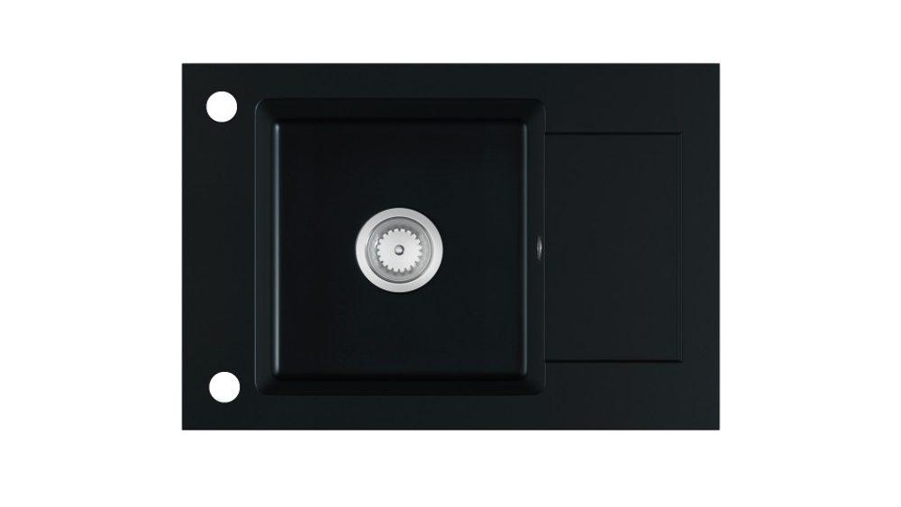 Halmar STEMA sink, color: black matt