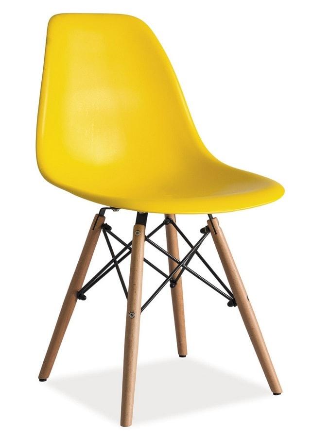 Casarredo Jídelní židle ENZO žlutá