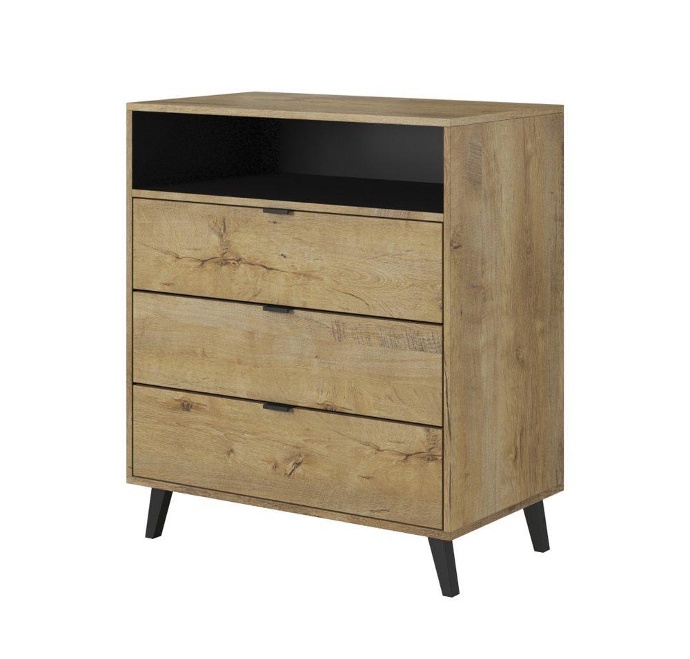 Halmar NEST KM-2 chest color: lefkas oak / black
