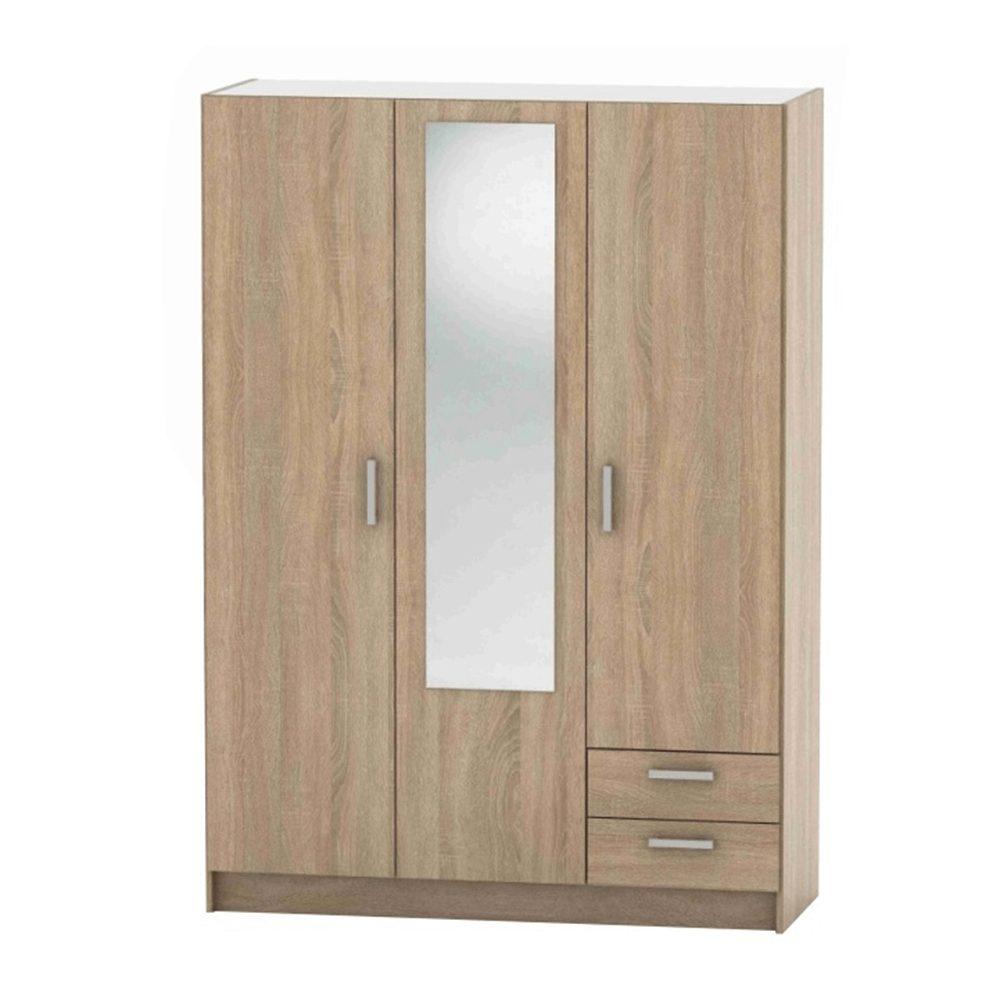 Levně 3-dveřová skříň, dub sonoma, BETTY 7 BE07-001-00