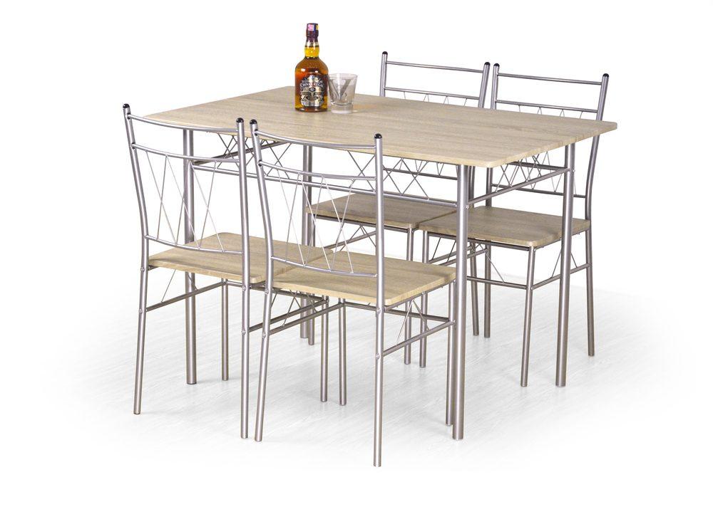 Halmar FAUST set + 4 chairs color: sonoma oak