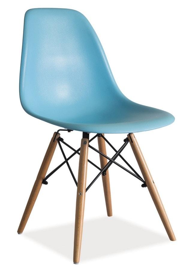 Levně Casarredo Jídelní židle ENZO modrá
