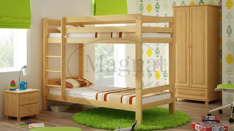 Magnat Patrová postel 90 x 200 cm ořech