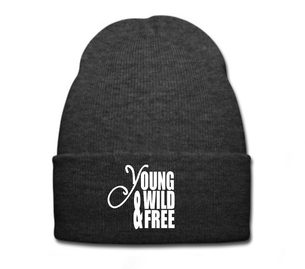 čepice Beanie YOUNG WILD AND FREE  grey