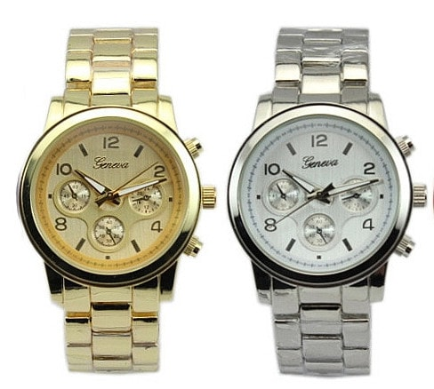 0baae70c4 VIPhair.cz - Luxusní dámské hodinky Geneva- gold, silver - Hodinky ...
