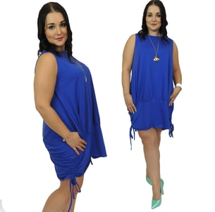 a02d79aa9 Ležérní dámské šaty - blue - Móda XXL - 5XL - DÁMSKÁ ... - VIPhair.cz