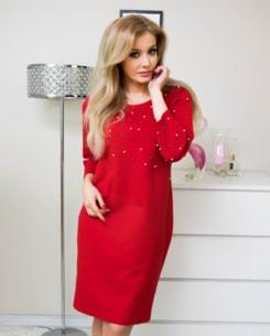 d836e87d8 VIPhair.cz - Luxusní šaty s perličkami - red - Móda XXL - 5XL ...