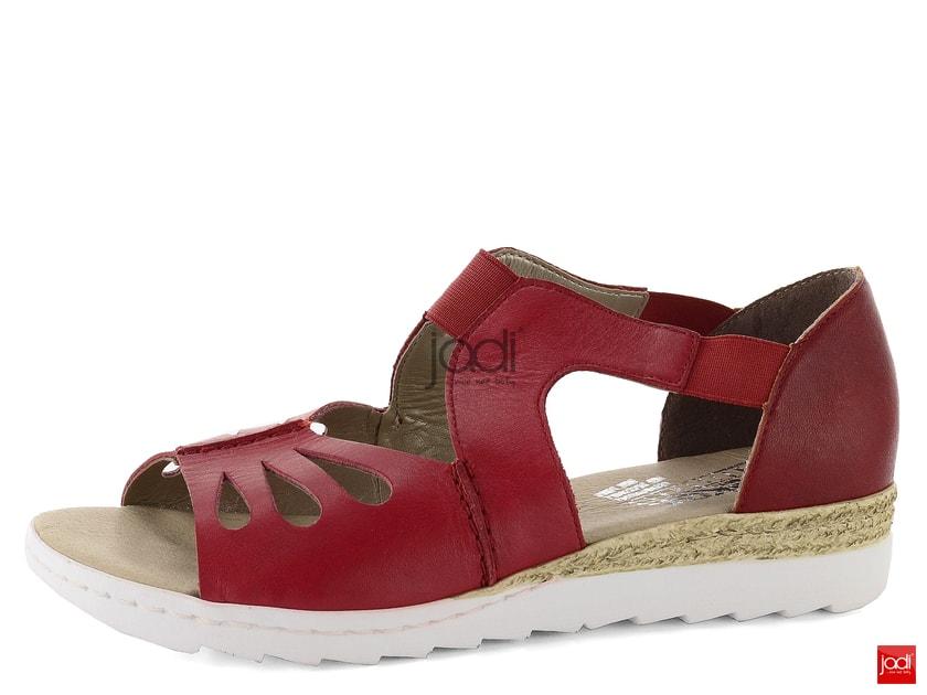 437292c6509c Rieker červené sandále s pružinkami 63004-33 - Rieker - Sandále - JADI.sk -  ...viac než topánky
