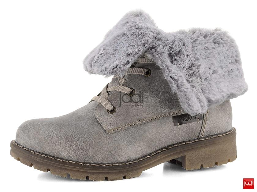 faece103ff Rieker vyhrňovacie členkové topánky s kožušinkou šedobéžové Y9122-42 -  Rieker - Podzim zima - JADI.sk - ...viac než topánky