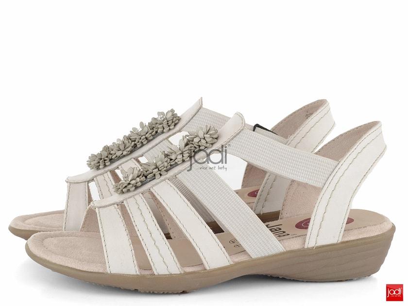 e551fb636 Jana sandále s gumičkami šírka H Offwhite 8-28120-22 - Jana - Sandále -  JADI.sk - ...viac než topánky
