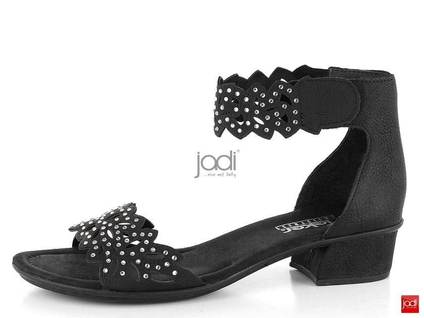 36ddce517bf78 Rieker dámske sandále s kamienkami čierne V6296-00 - Rieker - Sandále -  JADI.sk - ...viac než topánky