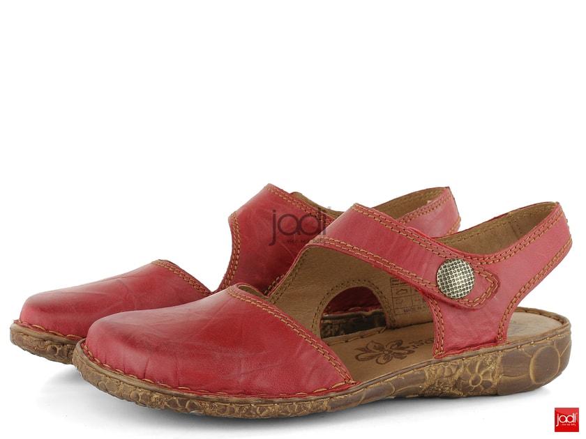 18a12ea935c6 Josef Seibel sandály s plnou špičkou červené 7952795 - Josef Seibel -  Sandály - JADI.cz - ...více než boty