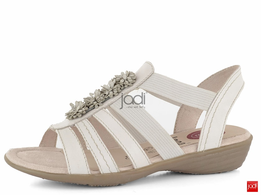 67ded49192ed Jana sandále s gumičkami šírka H Offwhite 8-28120-22 - Jana - Sandále -  JADI.sk - ...viac než topánky