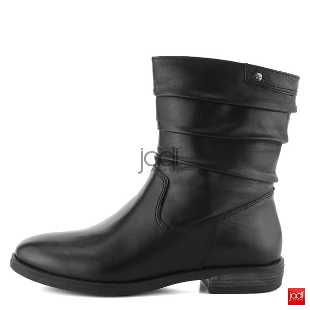 bf9ea0095555 Tamaris členkové topánky vyššie riasené čierne 1-25014-21 - Tamaris -  Podzim zima - JADI.sk - ...viac než topánky