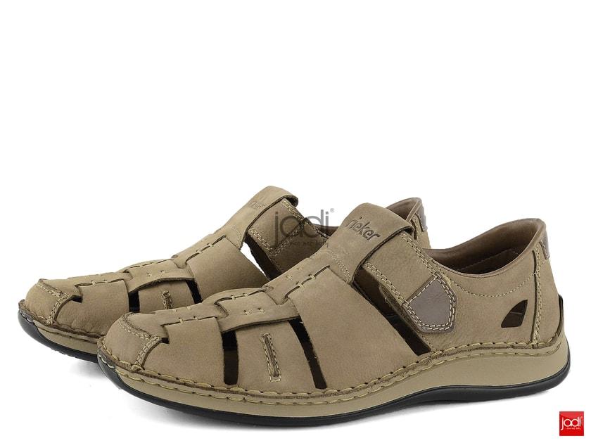 17b901fb2237 Rieker pánske vzdušné sandále béžové 05285-20 - Rieker - Poltopánky -  JADI.sk - ...viac než topánky