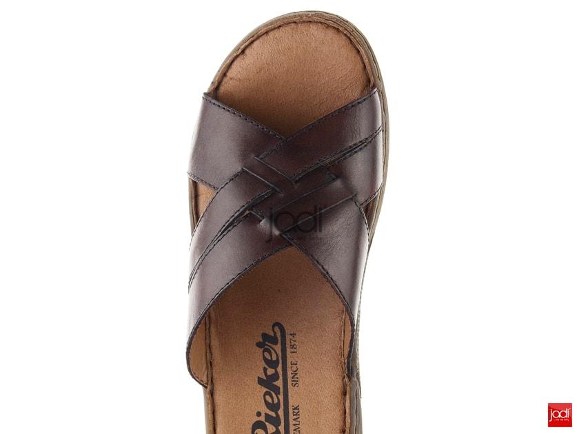 89b6c6b75e485 Rieker krížené pásikové šľapky hnedé 22089-25 - Rieker - Pantofle a žabky -  JADI.sk - ...viac než topánky