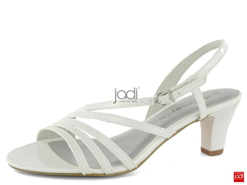 4d51bc9d4e29 Tamaris remienkové sandále lakované biele1-28023-32 - Tamaris - Sandále -  JADI.sk - ...viac než topánky
