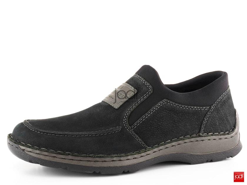 4166e89f07429 Rieker pánske mokasíny čierne extra šírky 05352-01 - Rieker - Poltopánky -  JADI.sk - ...viac než topánky