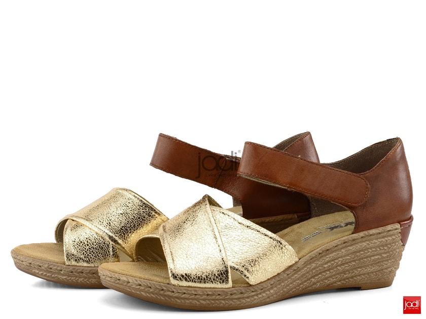 8a02f43a41af Rieker sandále na kline metalické 62457-90 - Rieker - Sandále - JADI.sk -  ...viac než topánky