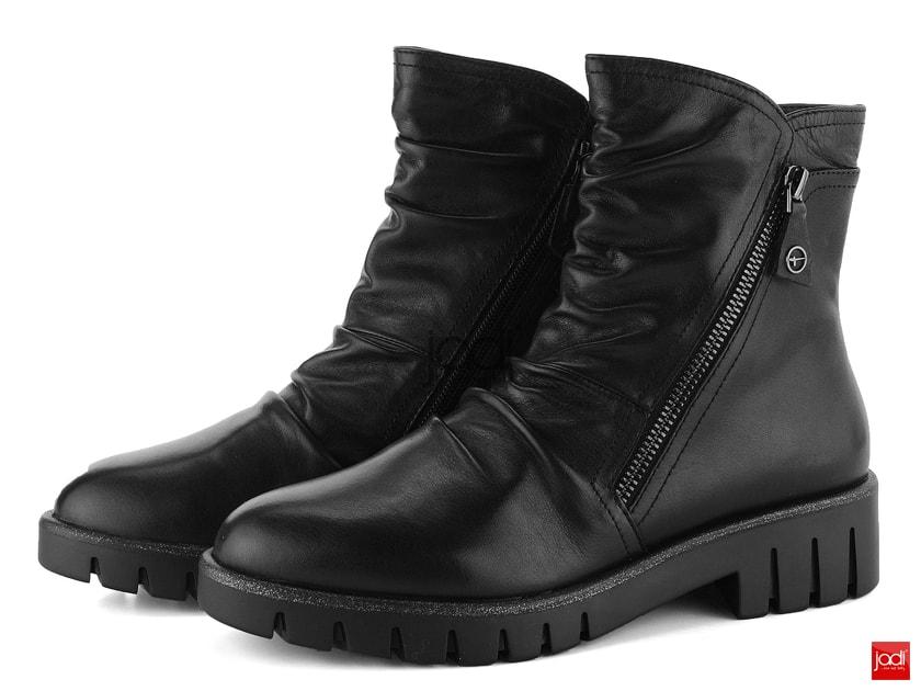f5688ad658 Tamaris riasené členkové topánky na hrubej podošve čierne 1-25431-21 -  Tamaris - Podzim zima - JADI.sk - ...viac než topánky
