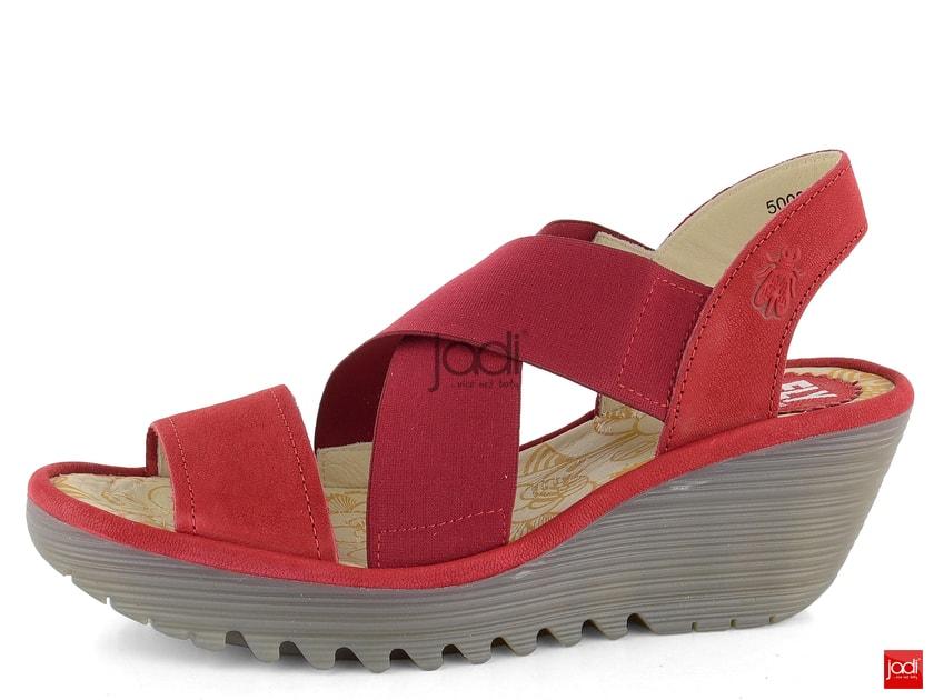 04cb847bd2acc Fly London sandále na kline Lipstick Red P500888005 - Fly London - Sandále  - JADI.sk - ...viac než topánky