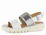 Geox sandály Wimbley White/Silver D92DPB043AY