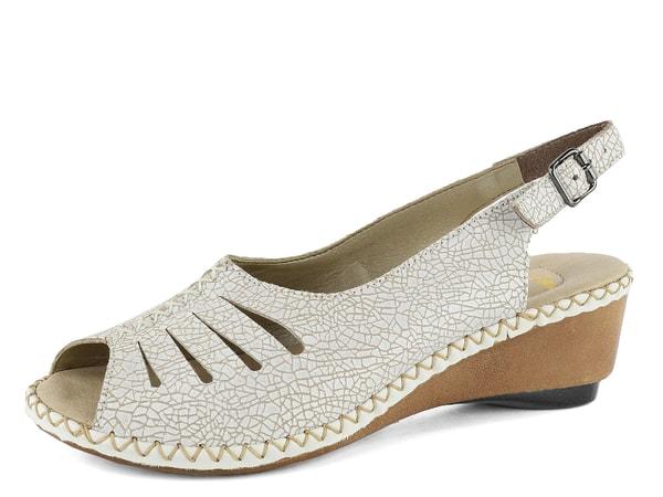 6d39208930ec Rieker sandály na klínu světlé 66174-80
