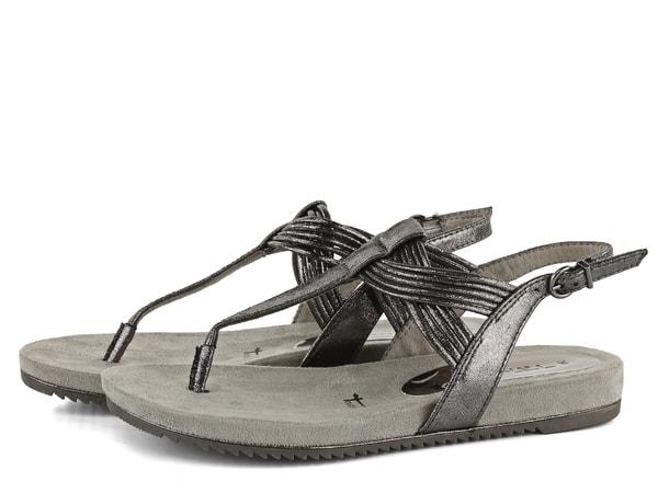 Tamaris sandály žabky metalické Pewter 1 28107 22   Tamaris