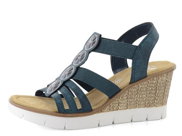 ed5f367378dd0 Rieker sandály s pajetkami modré 65515-14 | Rieker-jadi.cz