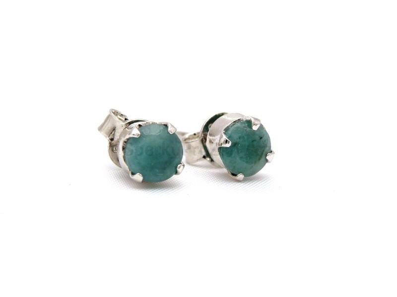 21810bee54e Náušnice smaragd fasetovaný - smaragdové náušnice - Šperky pro ženy