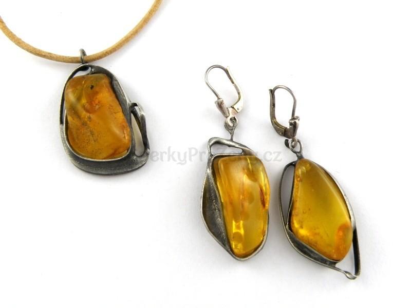 80529a9f8 Jantar souprava šperků VEGA - náušnice a náhrdelník - Šperky pro ženy