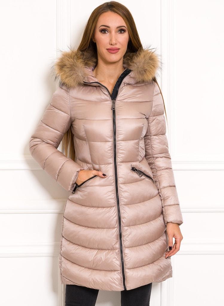Glamadise.pl Damska kurtka zimowa z prawdziwym lisem Due