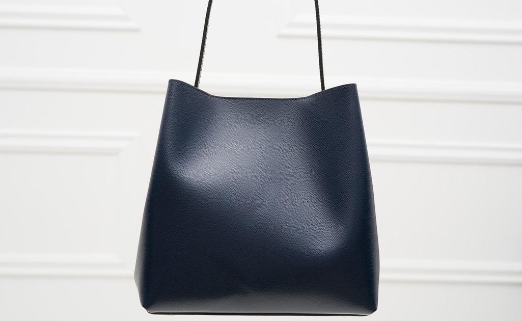 d1fe5d8672 Glamadise.sk - Kožená kabelka MARIA - tmavá modrá - Glamorous by GLAM - Cez  rameno - Kožené kabelky - GLAM