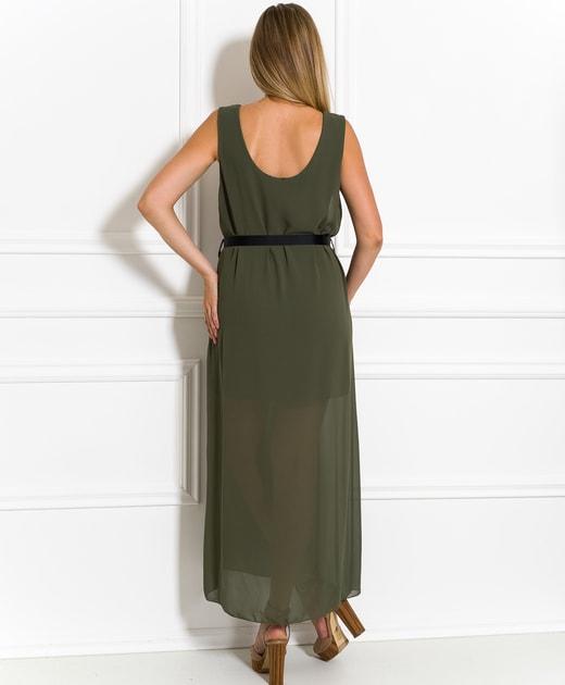 86447dcbf1a3 Glamadise.sk - Dlhé šaty olivové šifónové - Glamorous by Glam - Letní šaty  - Šaty