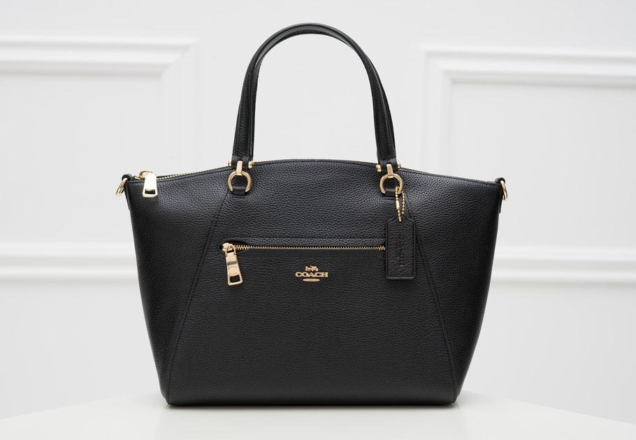 33ff942cf11a9 Glamadise.sk - Coach dámská kožená kabelka do ruky černá - Coach - Do ruky  - Kožené kabelky - GLAM, protože chci být odlišná!