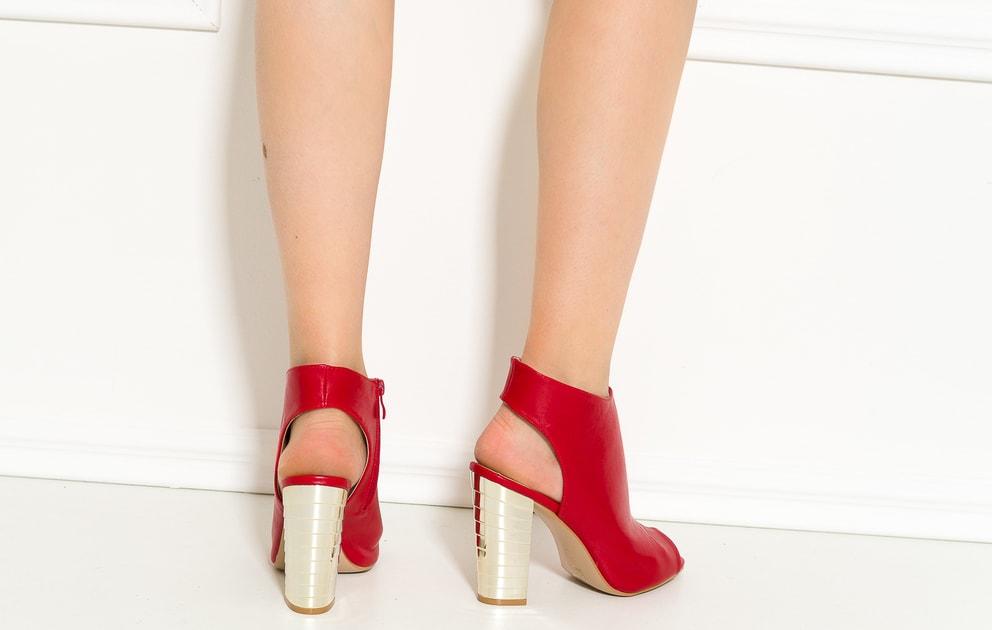 a19229080e Glamadise.sk - Dámske členkové so zlatým podpätkom - GLAM GLAMADISE shoes -  Sandále - Dámske topánky - GLAM