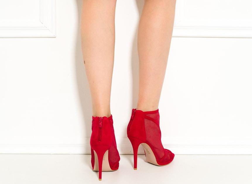 fc184b6ce58c Glamadise.sk - Dámska členková obuv červená so sieťkou - GLAM GLAMADISE  shoes - Kotníkové - Dámske topánky - GLAM