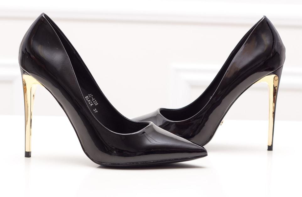 e44314c5f1606 Glamadise.sk - Dámske lakované lodičky - čierno zlatá - GLAM&GLAMADISE  shoes - Lodičky - Dámske topánky - GLAM, protože chci být odlišná!