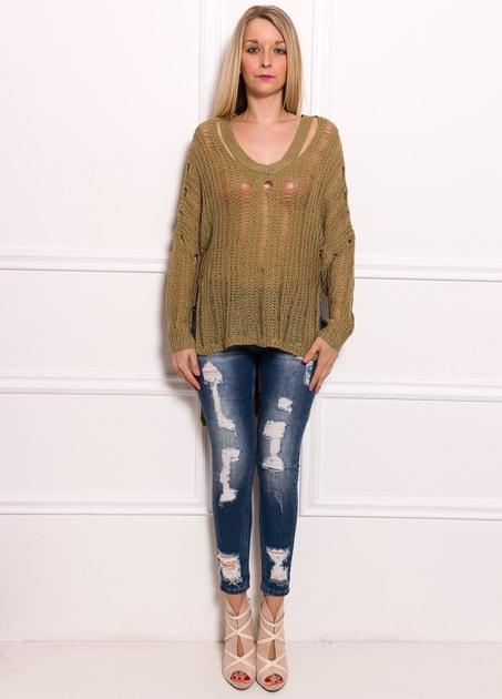 dcbc90a1dc Glamadise.hu Fashion paradise - Női szvetter - Zöld - Pulóverek - Női  ruházat - Divat olasz design