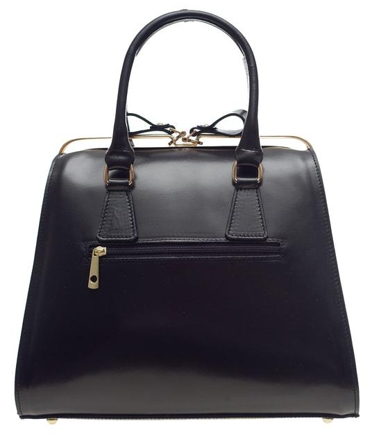a6331da3bf Glamadise.sk - Dámska kožená kabelka kufrík - čierna - Glamorous by GLAM - Kožené  kabelky - - GLAM